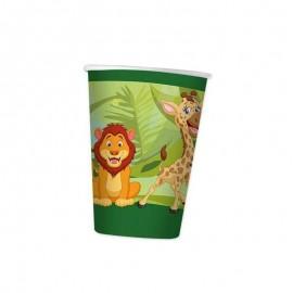 8 bicchieri tema giungla