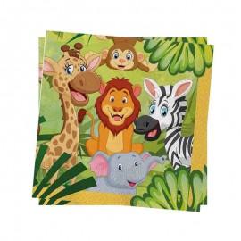 tovaglioli tema giungla baby