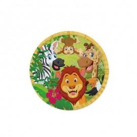 8 piattini piccoli tema giungla