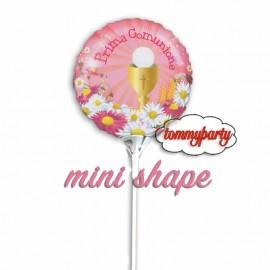 palloncino mini shape comunione rosa