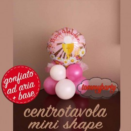 centrotavola prima comunione rosa mini