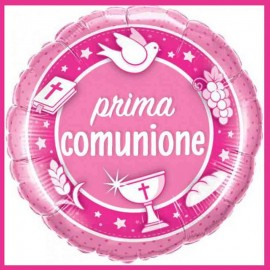 palloncino comunione bimba mylar