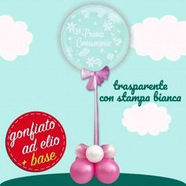 centrotavola bubble prima comunione rosa
