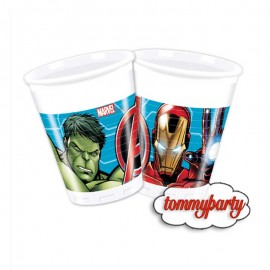 bicchieri Hulk e Iron Man
