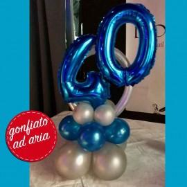 centrotavola palloncini 40 anni blu