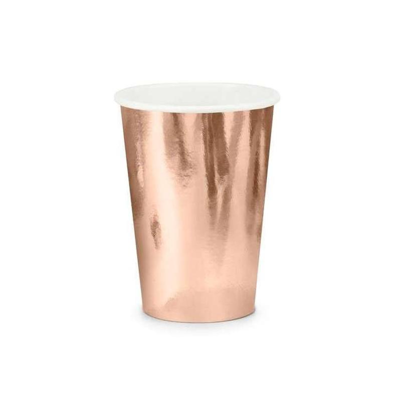 bicchieri rosa gold cartoncino