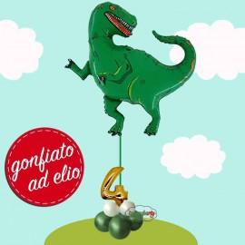 dinosauro palloncino con numero 4
