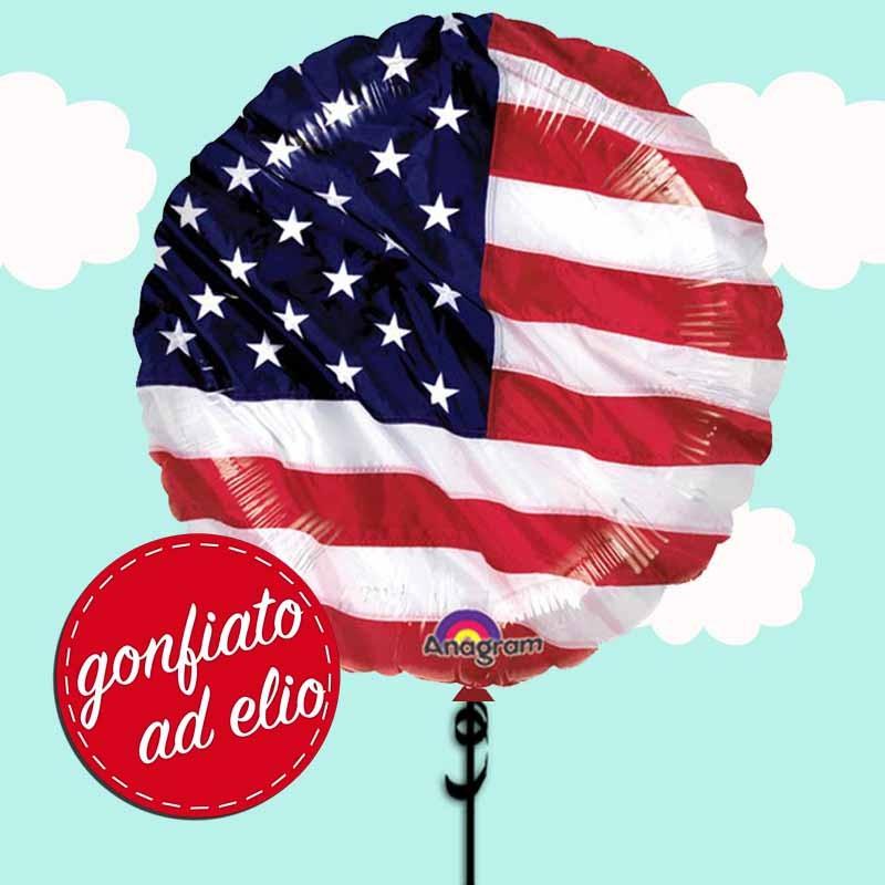 palloncino bandiera americana ad elio