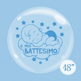 palloncino battesimo bubble 18
