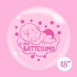 palloncino battesimo bimba bubble 18
