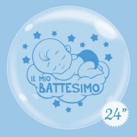 palloncino bubble 24 battesimo bimbo