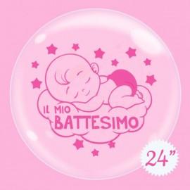 palloncino bubble 24 battesimo bimba