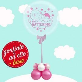 palloncino bubble battesimo bimba ad elio