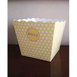 vaso in carta giallo grande
