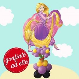 composizione rapunzel palloncino