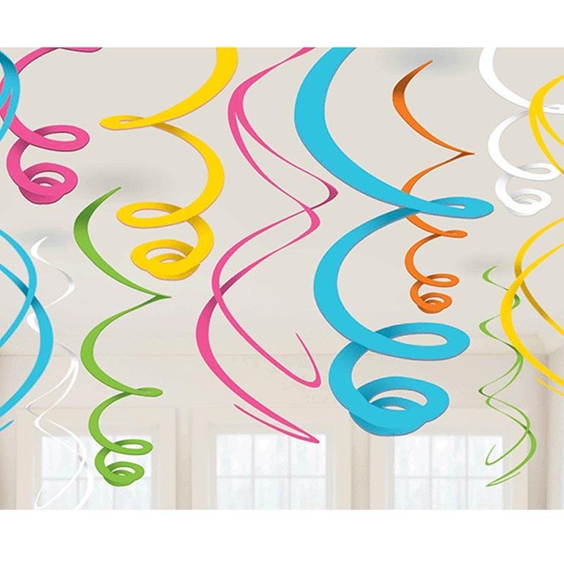 spirali decorative arcobaleno