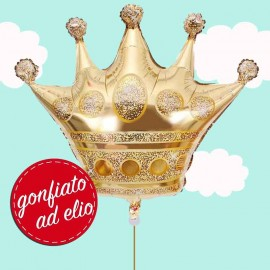 corona oro palloncino ad elio