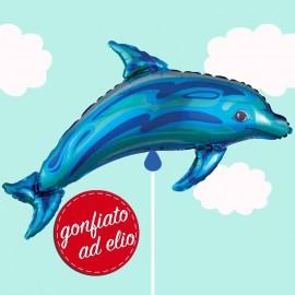palloncino delfino blu ad elio