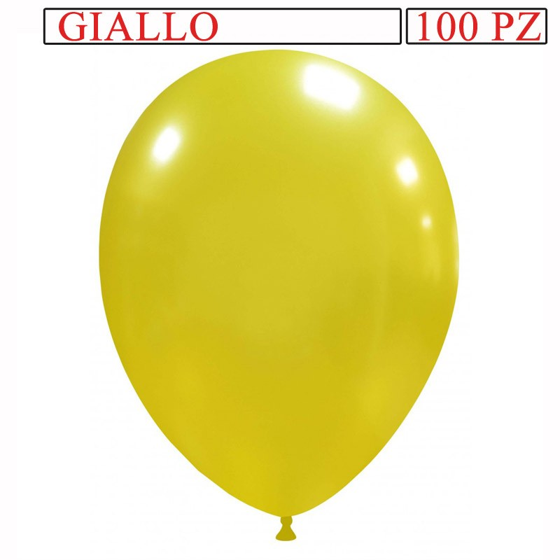 palloncino metallizzato da 13 pollici giallo