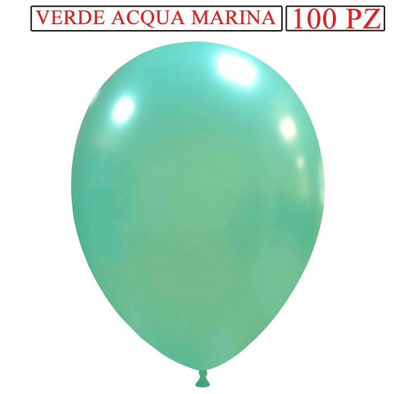 palloncino metallizzato da 13 pollici verde acqua