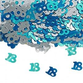 confetti tavolo 18 colore blu celeste e argento