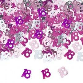 confetti tavolo 18 viola rosa e fucsia