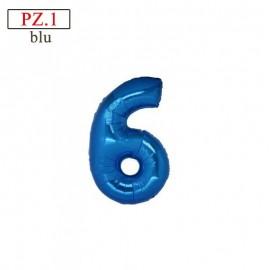 """Mylar Mini Numero """"6"""""""