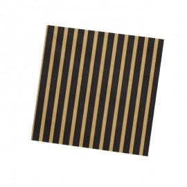 tovaglioli con strisce nero e oro