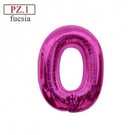 numero 0 fucsia palloncino cm.35