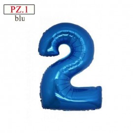 palloncino numero 2 blu misura cm.35