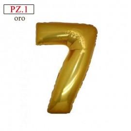 """palloncino numero 7 oro 14"""""""