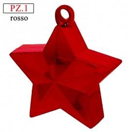 pesetto stella rossa per palloncini ad elio