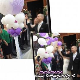 esempio utilizzo pallone w gli sposi trasparente da 70 cm