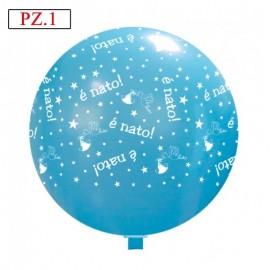 è nato palloncino celeste cm.80