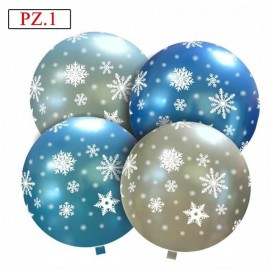 fiocchi di neve palloncino 32 pollici assortiti