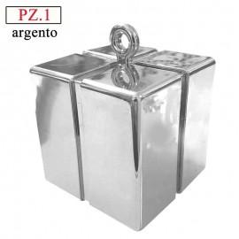 peseta box argento per palloncini ad elio