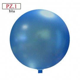 Pallone  cm. 60 blu metallizzato