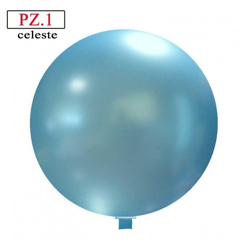 Pallone  cm. 60 celeste metallizzato
