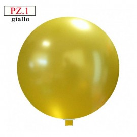 Pallone  cm. 60 giallo metallizzato