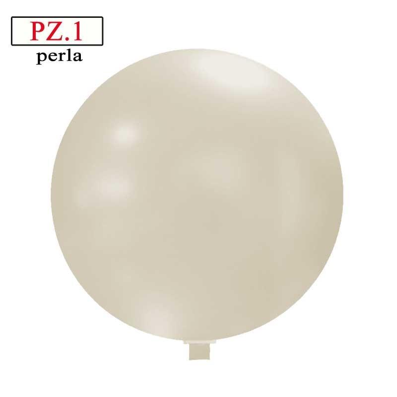 Pallone  cm. 60 bianco metallizzato