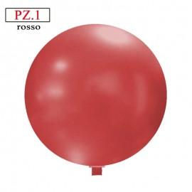 Pallone  cm. 60 rosso metallizzato