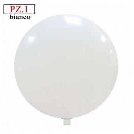 Pallone  cm. 81 bianco rotondo pastello