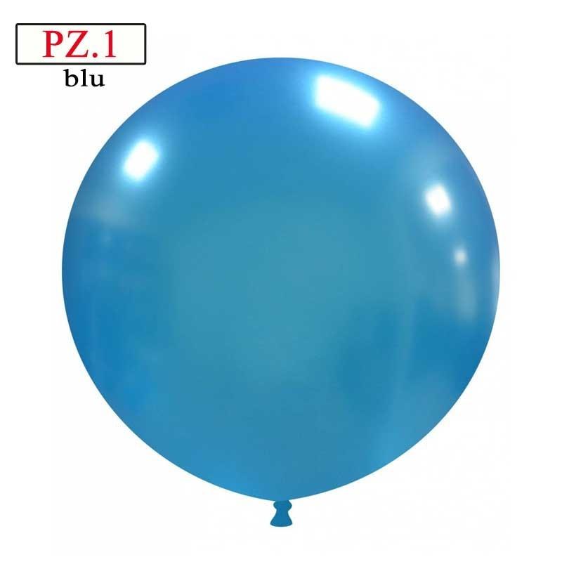 pallone cm.81 blu metallizzato