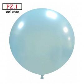 pallone cm.81 celeste metallizzato