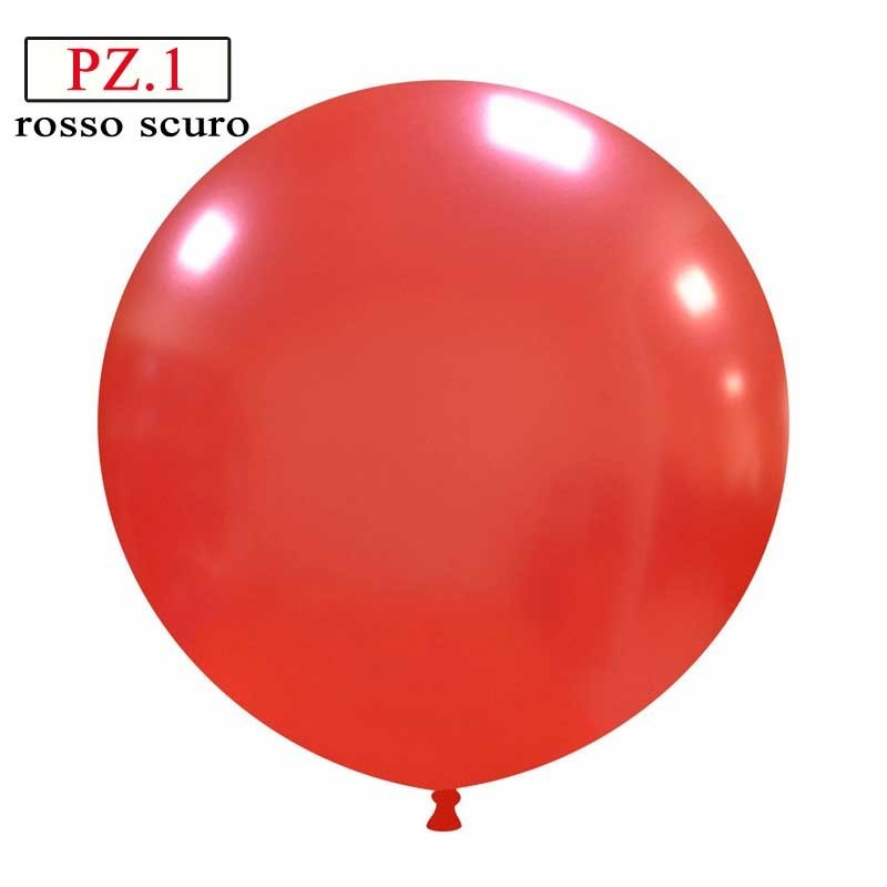 pallone cm.81 rosso metallizzato