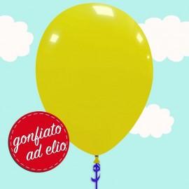 palloncino giallo pastello ad elio