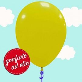 palloncino giallo scuro pastello ad elio