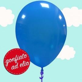palloncino blu pastello gonfiato ad elio