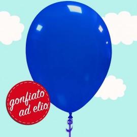 palloncino blu scuro pastello gonfiato ad elio