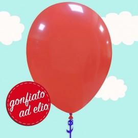 palloncino rosso gonfiato ad elio